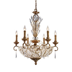 12 Light Chandelier In A Spanish Bronze Finish