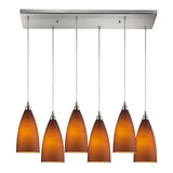 Vesta 6 Light Pendant In Satin Nickel