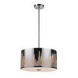 Skyline 3-Light Pendant In Polished Stainless Steel
