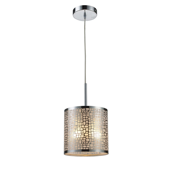 Medina 1-Light Pendant In Polished Stainless Steel