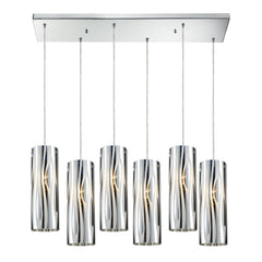 Chromia 6 Light Pendant In Polished Chrome