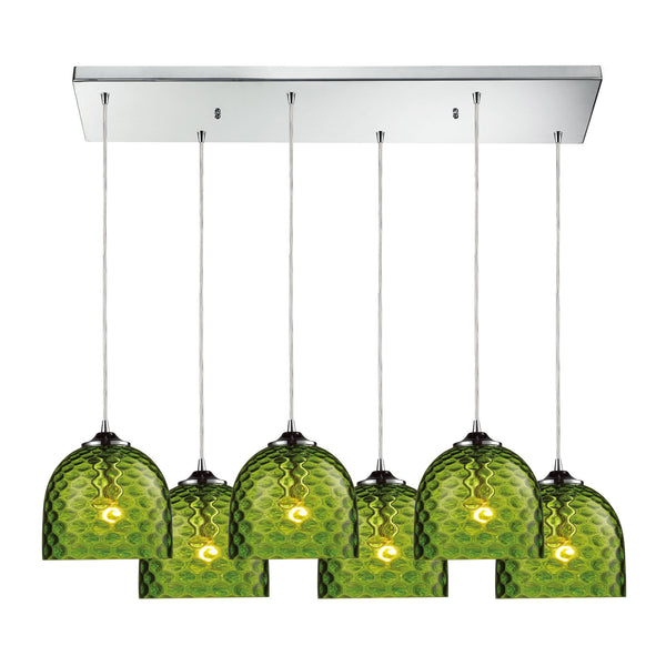 Viva 6 Light Pendant In Polished Chrome