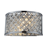 2- Light Wall Sconce In Polished Chrome