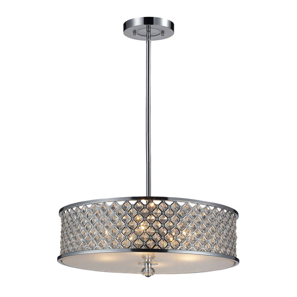 4- Light Pendant In Polished Chrome
