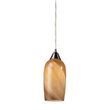 1- Light Pendant In Satin Nickel