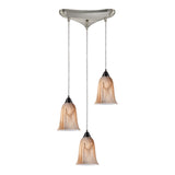 3- Light Pendant In Satin Nickel