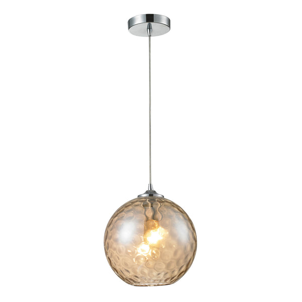 Watersphere 1 Light Pendant In Polished Chrome