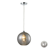Watersphere 1 Light Pendant In Polished Chrome With Adapter Kit