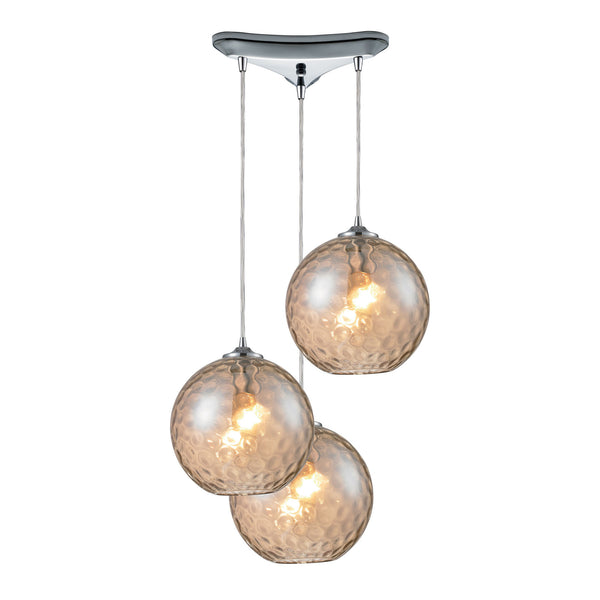 Watersphere 3 Light Pendant In Polished Chrome