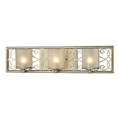 Santa Monica Collection 3 light bath in Aged Silver