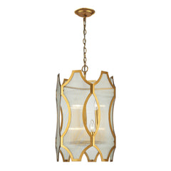 Benicia Collection 3+3 light pendant in Antique Gold Leaf