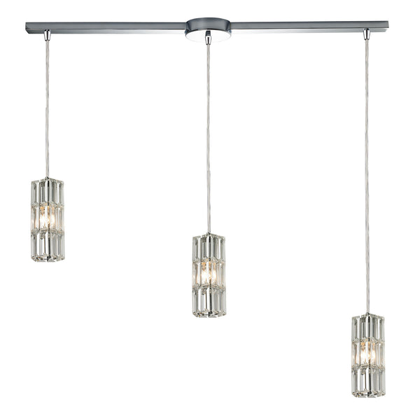 Cynthia Collection 3 light chandelier in Polished Chrome