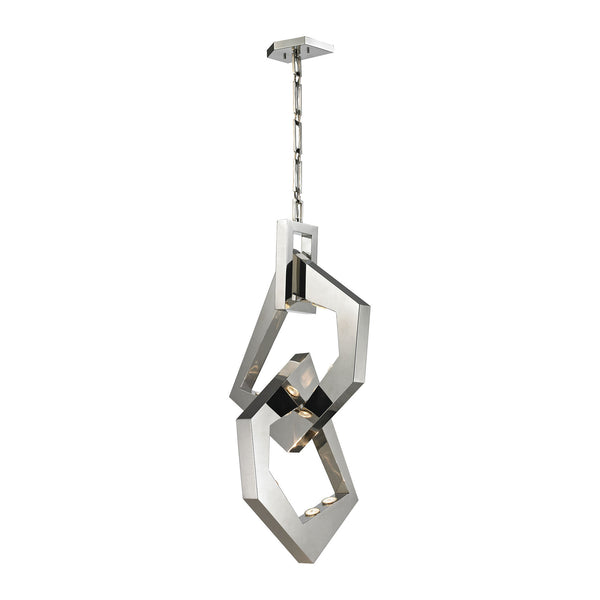Links 8 Light Pendant In Polished Stainless Steel/Polished Nickel