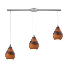 Dunes 3 Light Pendant In Satin Nickel