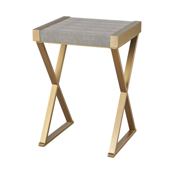 Gold and Grey Sands Point Accent Table
