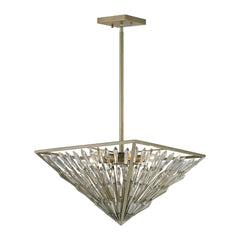 Viva Natura 6 Light Pendant In Aged Silver