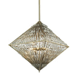 Viva Natura 8 Light Chandelier In Aged Silver