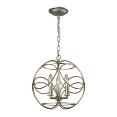 Chandette 3 Light Pendant In Aged Silver