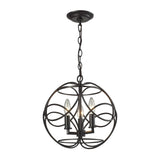 Chandette 3 Light Pendant In Oil Rubbed Bronze