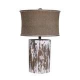 "Woodtone Wood Cylinder Table Lamp - 29.3""x17"""
