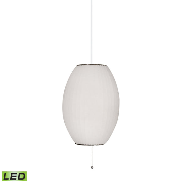 Cigar LED Pendant In White