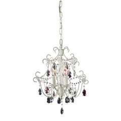 3 Light Chandelier In Antique White