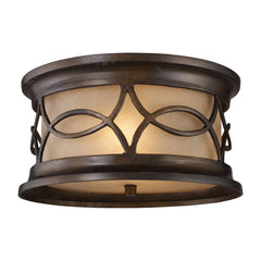 Burlington Junction 2-Light Outdoor Flush Mount In Hazelnut Bronze