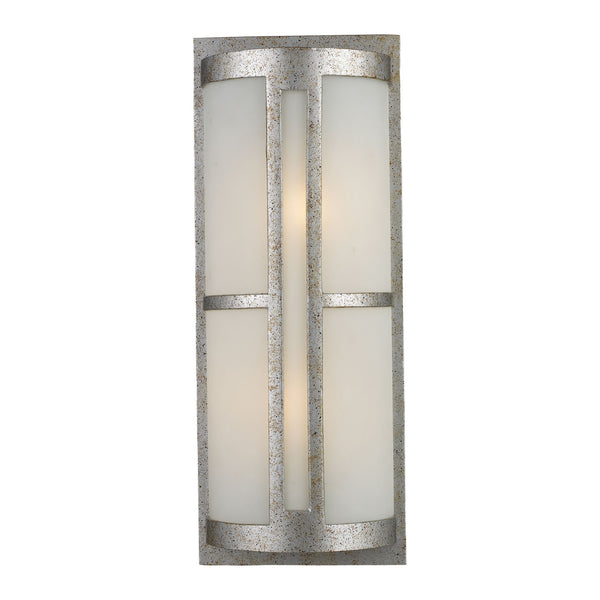Trevot 1-Light Outdoor Wall Mount In Sunset Silver