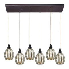 Danica 6 Light Pendant In Oiled Bronze