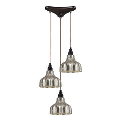 Danica 3 Light Pendant In Oiled Bronze