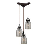 Danica Collection 3 light chandelier in Oil Rubbed Bronze
