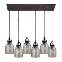 Danica Collection 6 light chandelier in Oil Rubbed Bronze