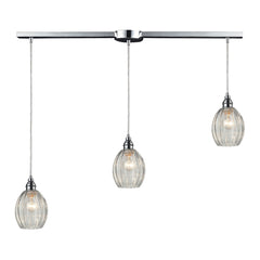 Danica 3 Light Pendant In Polished Chrome
