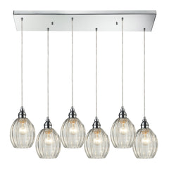Danica 6 Light Pendant In Polished Chrome