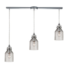 Danica Collection 3 light chandelier in Polished Chrome