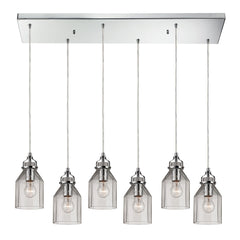 Danica Collection 6 light chandelier in Polished Chrome