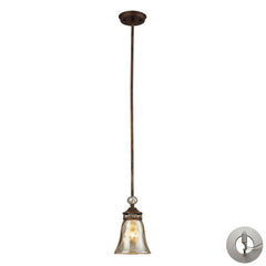 Cheltham 1 Light Pendant In Mocha With Adapter Kit