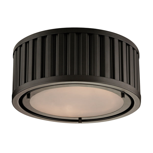 Linden Collection 2 light Flush Mount in Oil Rubbed Bronze