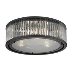 Linden Collection 3 light flush mount in Oil Rubbed Bronze