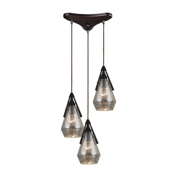 Duncan 3 Light Pendant In Oil Rubbed Bronze