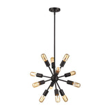 Delphine 12 Light Chandelier In Oil Rubbed Bronze
