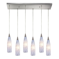 Lungo 6 Light Pendant In Satin Nickel