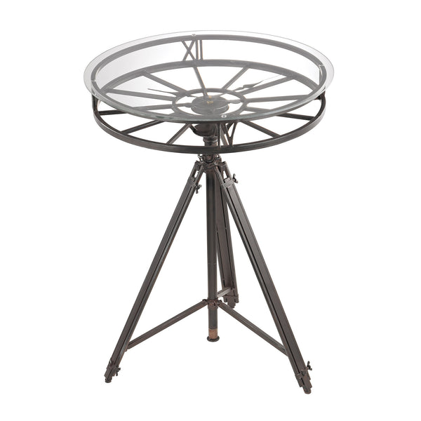 Tripod Clock Table in Black