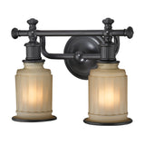 Acadia Collection 2 light bath in Oil Rubbed Bronze