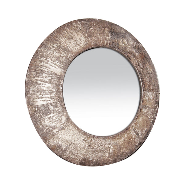 Transitional Natural Birch Bark Mirror