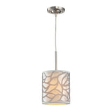 Autumn Breeze Collection 1 light mini pendant in Brushed Nickel
