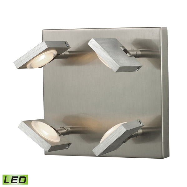 Reilly Collection 4 light sconce in Brushed Nickel/Brushed Aluminum