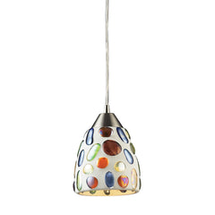 1 Light Genstone Pendant w/ Satin Nickel Hardware