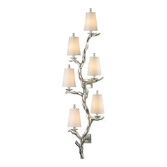 Sprig Collection 6 light sconce in Silver Leaf
