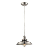 Newberry Collection 1 light mini pendant in Polished Nickel